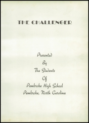 Page 7, 1950 Edition, Pembroke High School - Challenger Yearbook (Pembroke, NC) online yearbook collection