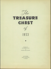 Page 7, 1953 Edition, Aurora High School - Treasure Chest Yearbook (Aurora, NC) online yearbook collection