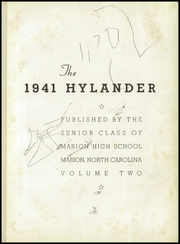 Page 5, 1941 Edition, Marion High School - Hylander Yearbook (Marion, NC) online yearbook collection