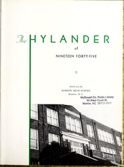 Page 7, 1945 Edition, Marion High School - Hylander Yearbook (Marion, NC) online yearbook collection