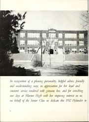 Page 6, 1952 Edition, Marion High School - Hylander Yearbook (Marion, NC) online yearbook collection