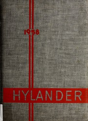 Marion High School - Hylander Yearbook (Marion, NC) online yearbook collection, 1958 Edition, Page 1