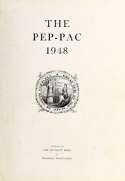 Page 3, 1948 Edition, Henderson High School - Pep Pac Yearbook (Henderson, NC) online yearbook collection
