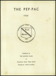 Page 5, 1952 Edition, Henderson High School - Pep Pac Yearbook (Henderson, NC) online yearbook collection