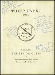 Page 5, 1953 Edition, Henderson High School - Pep Pac Yearbook (Henderson, NC) online yearbook collection
