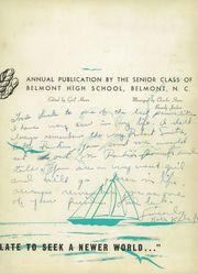 Page 7, 1954 Edition, Belmont High School - Clarion Yearbook (Belmont, NC) online yearbook collection