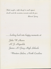 Page 7, 1954 Edition, Gray High School - Blue and Gold Yearbook (Winston Salem, NC) online yearbook collection