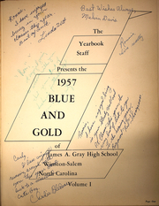Page 5, 1957 Edition, Gray High School - Blue and Gold Yearbook (Winston Salem, NC) online yearbook collection