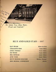 Page 9, 1957 Edition, Gray High School - Blue and Gold Yearbook (Winston Salem, NC) online yearbook collection