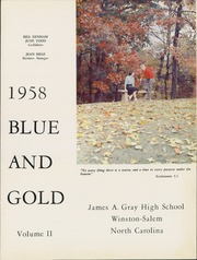 Page 5, 1958 Edition, Gray High School - Blue and Gold Yearbook (Winston Salem, NC) online yearbook collection