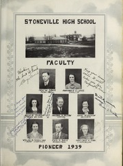 Page 13, 1939 Edition, Stoneville High School - Pioneer Yearbook (Stoneville, NC) online yearbook collection