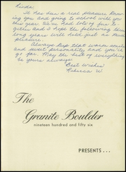 Page 5, 1956 Edition, Granite Falls High School - Boulder Yearbook (Granite Falls, NC) online yearbook collection