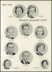 Page 15, 1959 Edition, Granite Falls High School - Boulder Yearbook (Granite Falls, NC) online yearbook collection