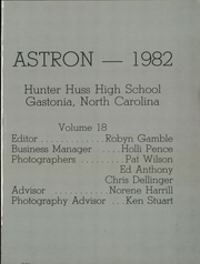 Page 5, 1982 Edition, Hunter Huss High School - Astron Yearbook (Gastonia, NC) online yearbook collection