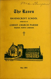 1955 Edition, Ravenscroft School - Raven Yearbook (Raleigh, NC)