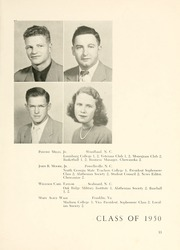 Page 17, 1950 Edition, Chowan College - Chowanoka Yearbook (Murfreesboro, NC) online yearbook collection