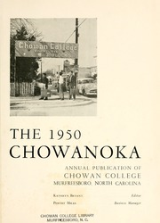 Page 5, 1950 Edition, Chowan College - Chowanoka Yearbook (Murfreesboro, NC) online yearbook collection