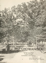Page 7, 1957 Edition, Chowan College - Chowanoka Yearbook (Murfreesboro, NC) online yearbook collection