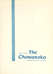 Page 5, 1970 Edition, Chowan College - Chowanoka Yearbook (Murfreesboro, NC) online yearbook collection