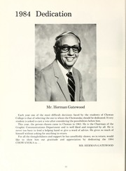 Page 16, 1984 Edition, Chowan College - Chowanoka Yearbook (Murfreesboro, NC) online yearbook collection