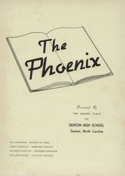 Page 5, 1955 Edition, Denton High School - Phoenix Yearbook (Denton, NC) online yearbook collection