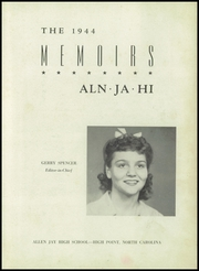 Page 7, 1944 Edition, Allen Jay High School - Aln Ja Hi Yearbook (High Point, NC) online yearbook collection