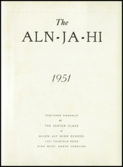 Page 5, 1951 Edition, Allen Jay High School - Aln Ja Hi Yearbook (High Point, NC) online yearbook collection