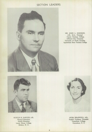 Page 10, 1953 Edition, Francis Garrou High School - Impersonator Yearbook (Valdese, NC) online yearbook collection