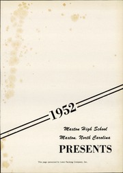 Page 5, 1952 Edition, Maxton High School - Pine Cone Yearbook (Maxton, NC) online yearbook collection
