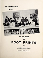Page 5, 1955 Edition, Lillington High School - Footprints Yearbook (Lillington, NC) online yearbook collection