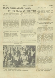 Page 7, 1936 Edition, Greenville High School - Tau Yearbook (Greenville, NC) online yearbook collection