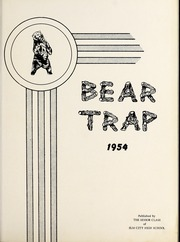 Page 5, 1954 Edition, Elm City High School - Bear Trap Yearbook (Elm City, NC) online yearbook collection
