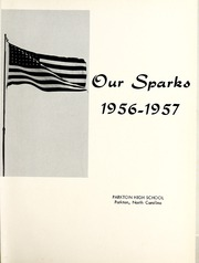 Page 5, 1957 Edition, Parkton High School - Our Sparks Yearbook (Parkton, NC) online yearbook collection