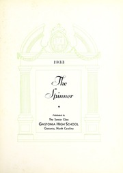 Page 7, 1933 Edition, Gastonia High School - Spinner Yearbook (Gastonia, NC) online yearbook collection