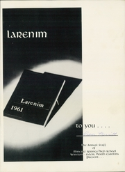 Page 5, 1961 Edition, Mineral Springs High School - Larenim Yearbook (Winston Salem, NC) online yearbook collection