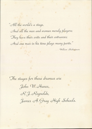Page 7, 1951 Edition, Hanes High School - Blue Gold Yearbook (Winston Salem, NC) online yearbook collection