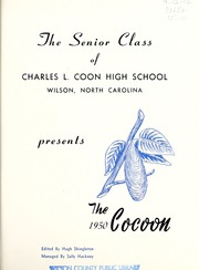 Page 5, 1950 Edition, Coon High School - Cocoon Yearbook (Wilson, NC) online yearbook collection