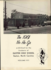 Page 7, 1961 Edition, Gaston High School - No Ha Ga Yearbook (Gaston, NC) online yearbook collection