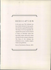 Page 15, 1933 Edition, SUNY Downstate Medical Center - Iatros Yearbook (Brooklyn, NY) online yearbook collection