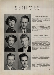 Page 12, 1952 Edition, Taylorsville High School - Tahian Yearbook (Taylorsville, NC) online yearbook collection
