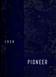 1959 Edition, Booker T Washington High School - Pioneer Yearbook (Reidsville, NC)
