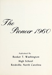 Page 5, 1960 Edition, Booker T Washington High School - Pioneer Yearbook (Reidsville, NC) online yearbook collection