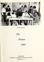Page 5, 1964 Edition, Booker T Washington High School - Pioneer Yearbook (Reidsville, NC) online yearbook collection