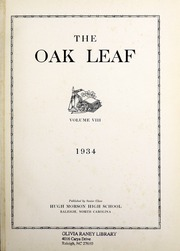 Page 5, 1934 Edition, Hugh Morson High School - Oak Leaf Yearbook (Raleigh, NC) online yearbook collection