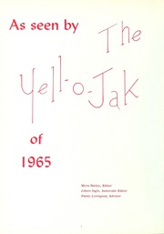 Page 6, 1965 Edition, Gibsonville High School - Yell O Jak Yearbook (Gibsonville, NC) online yearbook collection