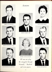 Page 15, 1960 Edition, Old Fort High School - Arrowhead Yearbook (Old Fort, NC) online yearbook collection