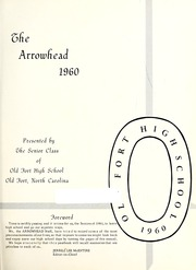 Page 5, 1960 Edition, Old Fort High School - Arrowhead Yearbook (Old Fort, NC) online yearbook collection