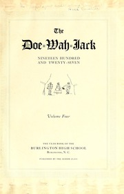 Page 5, 1927 Edition, Burlington High School - Doe Wah Jack Yearbook (Burlington, NC) online yearbook collection