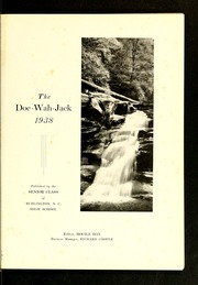 Page 5, 1938 Edition, Burlington High School - Doe Wah Jack Yearbook (Burlington, NC) online yearbook collection
