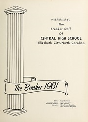 Page 5, 1961 Edition, Central High School - Breaker Yearbook (Elizabeth City, NC) online yearbook collection